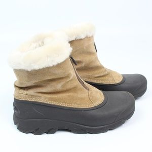 Sorel Snow Angel Zip boots thinsulate tan suede